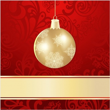 christmas ball background vector