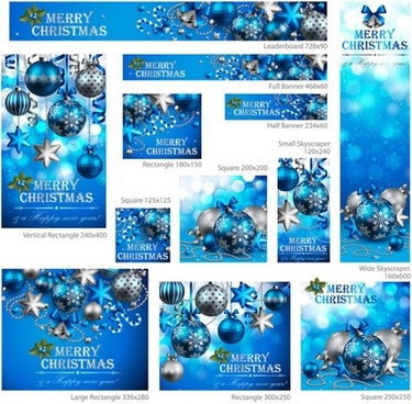 christmas ball background vector banner promotional s