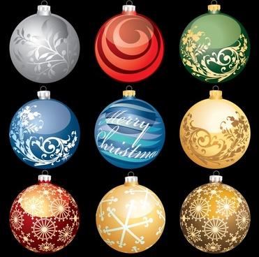 christmas ball balls vector