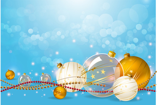 christmas ball decoration on aqua background
