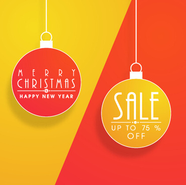 christmas ball discount vector background art