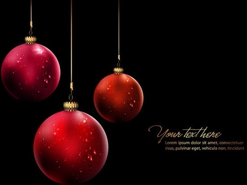 christmas ball hanging crystal style vector 3