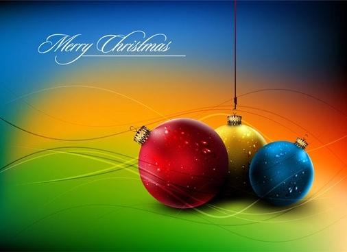 christmas ball hanging crystal style vector 5