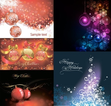 christmas ball with colorful background vector