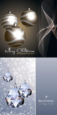 christmas backgrounds modern twinkling 3d bauble balls decor