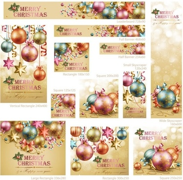 christmas balls red berries pearl ribbon vector