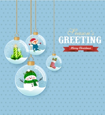 christmas banner hanging glass baubles decor