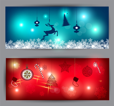 Christmas Banner Background Free Vector Download 58 761