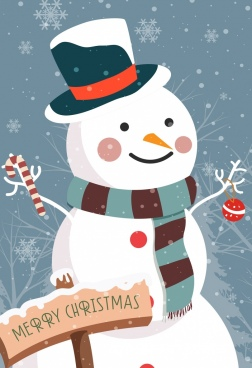 christmas banner snowman decoration snowflakes backdrop