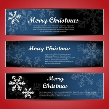 christmas banners 02 vector