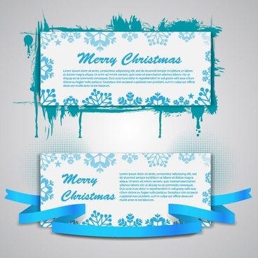 christmas banners 03 vector
