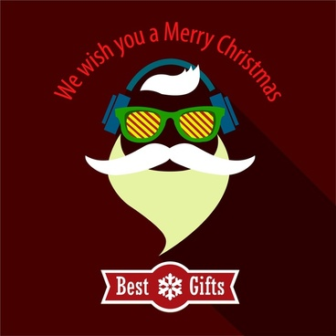christmas banners design with stylish santa silhouette style