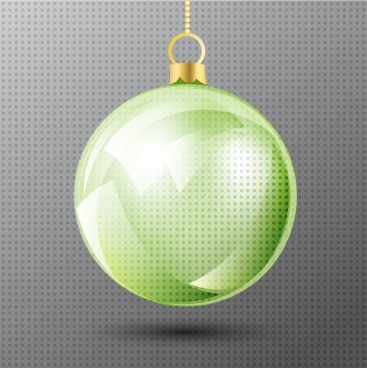 christmas bauble icon shiny transparent circle object