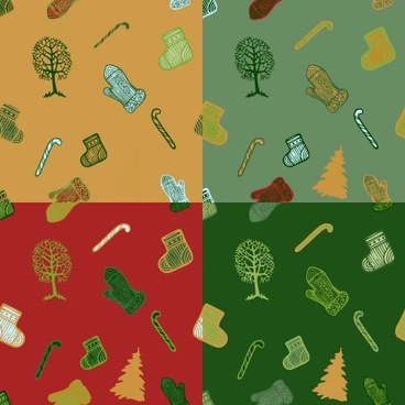 christmas baubles vector seamless pattern