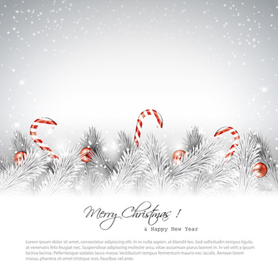christmas baubles with winter background vector