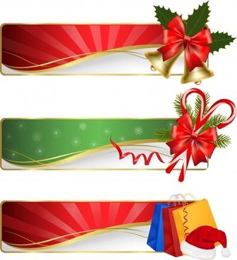 christmas bells bag banner vector