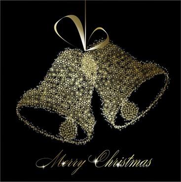 christmas bells vector star