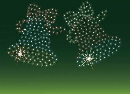christmas bells vector starlight