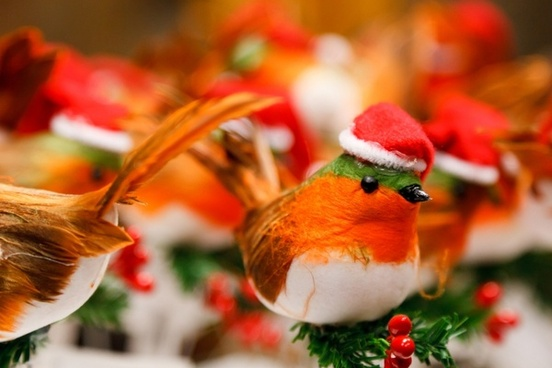 christmas bird decoration
