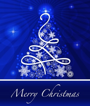 christmas blue background 02 vector - Blue And Silver Christmas