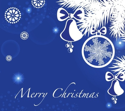 christmas blue background 05 vector