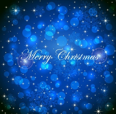 christmas blue background with snowflakes vector graphic