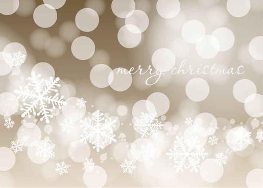 Christmas Bokeh Vector Background