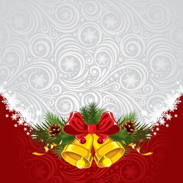 christmas bow background vector