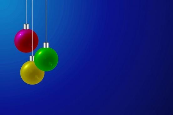 christmas bulbs blue background