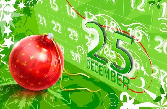 christmas calendar background psd layered
