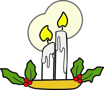 Christmas Candles clip art