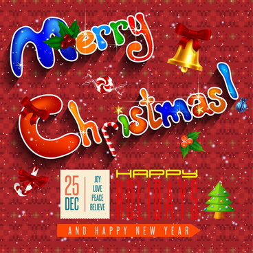 christmas card design with funny decoration