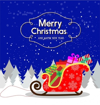 Free christmas card download free vector download 17934 free christmas card design with sleigh full of presents m4hsunfo