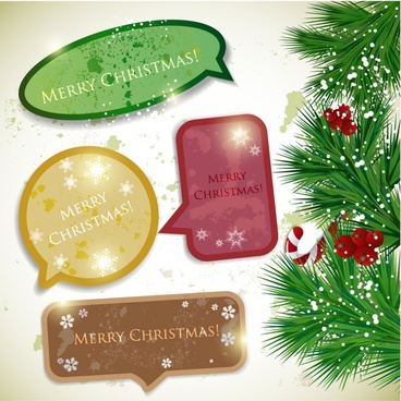 christmas card memo notes vector