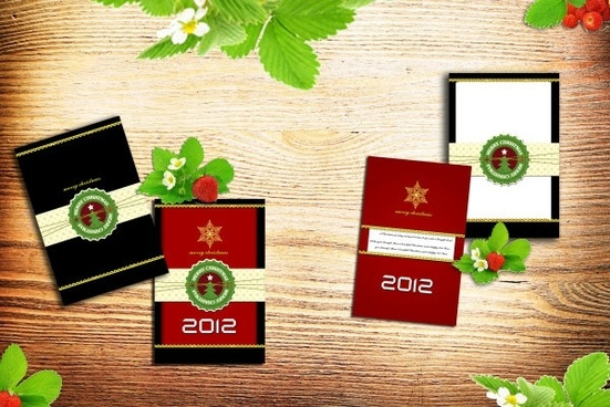 christmas cards psd layered