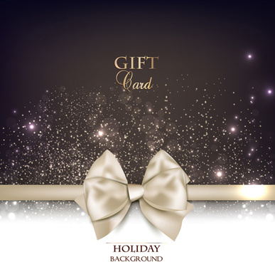 christmas cards with bows design vector