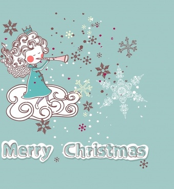 christmas cartoon illustration vector