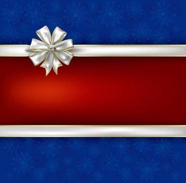 christmas celebration ribbon bow vector background