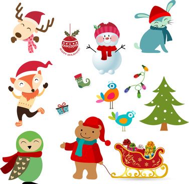 christmas character design element
