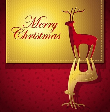christmas creative greeting card elk vector