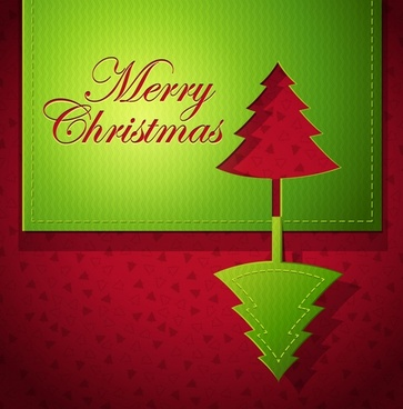 christmas creative greeting card vector