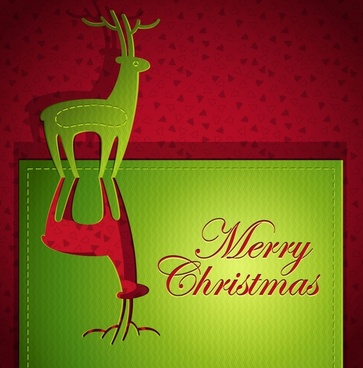 christmas creative greeting cards vector art