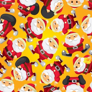 christmas cute cartoon santa claus vector illustration
