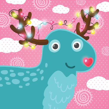 christmas cute deer vector