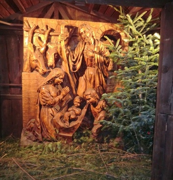 christmas december crib