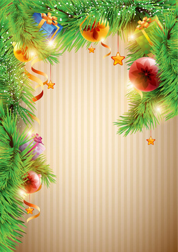 christmas decor background art vector