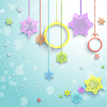 christmas decor element and background