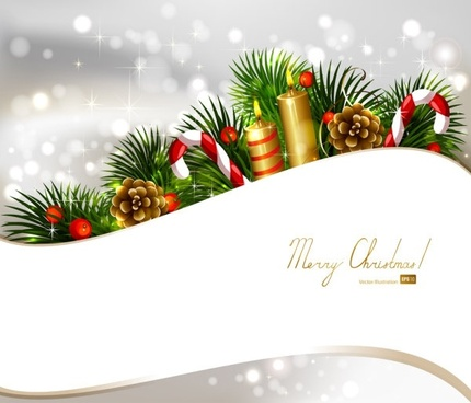 christmas decoration background 03 vector