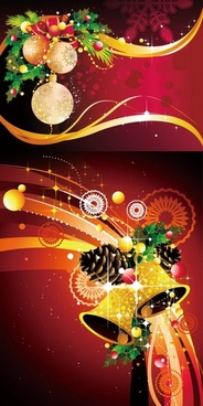 christmas decoration background vector