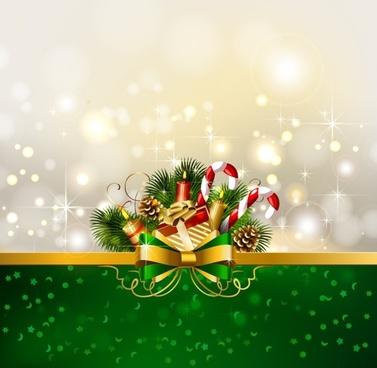 christmas decoration ball lob pine bows vector